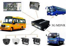 4G/3G Mobile Car DVR 4CH Camera System New Security Product
