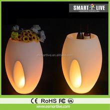 remote control flower pot led/ colors changing led pot/ portable flower pot