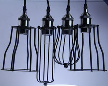 European American styple light metal lampshade with E27 aluminum lampholder black color