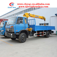 Dongfeng Lifting Hydraulic Truck Crane with 6.3 ton XCMG Crane for Sale