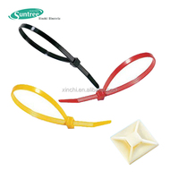 Self Attaching Cable Ties Reusable 3 Inch Rubber Twist Tie Assorted Colors