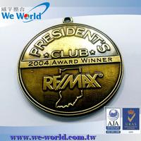 Superb quality professional custom made souvenir brass gold emblem