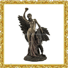 Large Bronze nude woman with Eagle Statue for Sale
