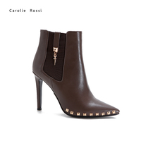 Wholesale quality sexy ladies 10cm high stiletto heel ankle boots