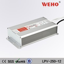 250w waterproof led driver smps constant voltage 220v ac to 12v dc switching power supply