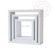 decorative high glossy cube shelf