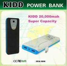 KIDD ROHS protable smart power bank with manual for 20000mah 50000mah capacity