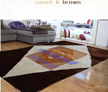 colourful series coffee diamond pattern leather and 100% polyester design, hotel, bedroom, decorative carpet