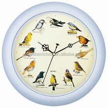 Round Bird sound chime clock