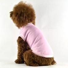 100% cotton Plain Pink Blank Dog Clothes Summmer Pet T-Shirts [FD017G]