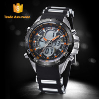 Trade Assurance Supplier WEIDE Silicone Wrist LCD Electronic Movement Dual Display Watch