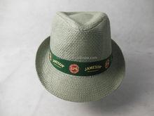 High Standard Factory Supply Customized Logo Straw Fedora Hats