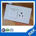 Alta qualidade 10a 250 v eua recipientes novos switches, américa do sul padrão soquetes de estanho, modular painéis de parede, brasil seção