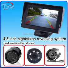 2015 new night vision 4.3 inch 2.4 G wireless reverse back camera with monitor