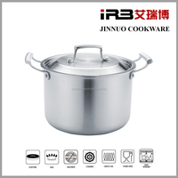 Tri Ply Clad Stock Pot with Lid, Stainless Steel JN-TG-2004