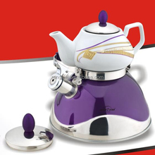 Double Whistling Kettle with Moving Handle