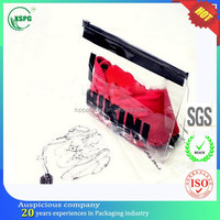 Dongguan hotsales document/pen/cloth/underwear/cosmetic plastic packaging bag