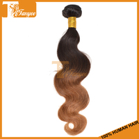 2014 Bulk Discounts 6A Body Wave Virgin Hair Extension Two Tone Color 1B/30 Colored Hair Malaysian Ombre Hair Weaves 3pcs 16""