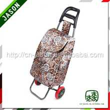 two wheel shopping trolley bag folding supermarket promotion table