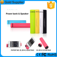 Mobile phone accessory from professional factory 4000mah power bank speaker