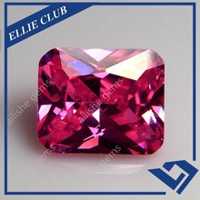 pink color 8*10mm specialized cubic zirconia as jewelry main gemstone