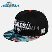 Custom hawaii floral printing snapback cap hat