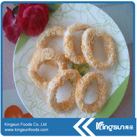 Tasty Frozen Breaded Squid Rings (Todarodes pacificus)