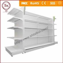 White standard supermarket Gondola Shelf with factory price
