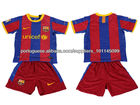 Customized soccer suits with high quality polyester