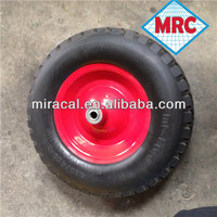 rubber caster mold on cast iron wheel 4.00-8 big squares