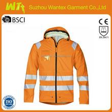 wholesale hi vis reflective winter life jacket parka warning reflective parka clothing woman or man safety parka clothing