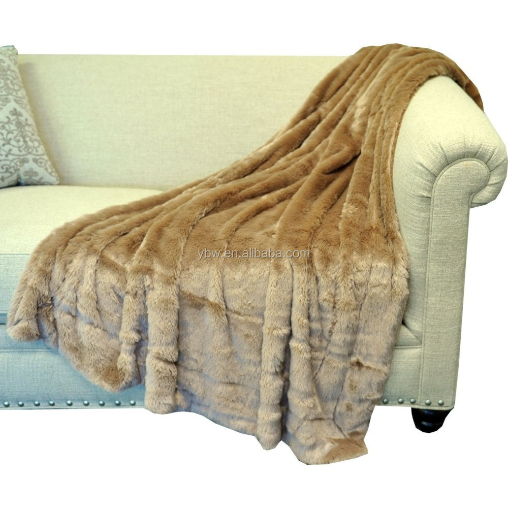 Home Decorative Double Bed Sofa Cover Mink Throw Blankets