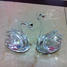 Hot new product for 2015 clear crystal swan wedding gift for guest