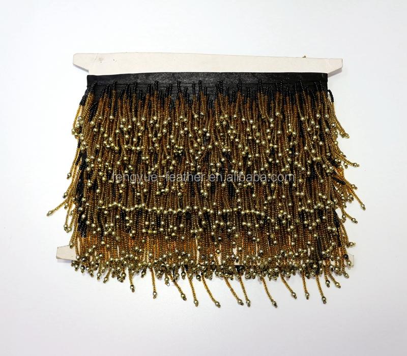 wholesale colorful tassel trimming beaded fringe trim