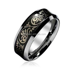 wholesale stainless steel black ring , 316l titanium men's ring jewelry