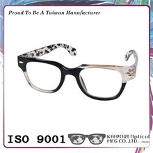 Stylish pattern and color mix design full frame reading glasses thick spectacle