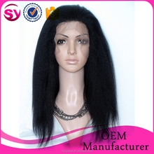100% Peruvian Human Hair Lace Front Wig Unprocessed Straight Virgin Hair Wig for Black Women Natural Hairline Glueless Lace Wig
