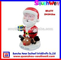 resin Santa Claus Bobble Head