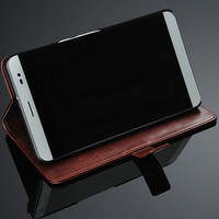 brown Color Design Flip Leather Phone Case For Huawei Honor X2 With card holder