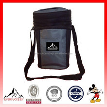 Two wine bottle carrier wine bag insulated picnic cooler bag