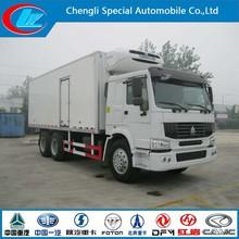 Sinotruk HOWO 6x4 266HP Refrigerated truck meat hook refrigerator truck