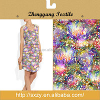 Great material flower printing polyester fabric for dress making
