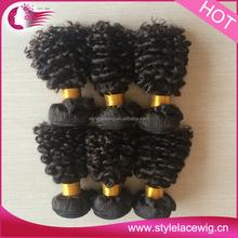 100% peruvian Virgin Natural Perm Yaki Human hair curly weave