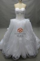 Sweetheart Bone Top Luxury Ruffle Skirt Bridal Dress Wedding Dress HMY-D098 Online Hot Sale Custom made