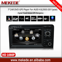 Car DVD For A3 S3 2002-2011 with GPS Navigation Radio Stereo System Bluetooth Phone book Steering wheel