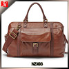 Brown leather travel trolley bags with Vintage Brass ladies travel bag personalized duffel bag
