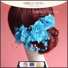 China manufacturers silk flowers wedding indian girls hair accessories