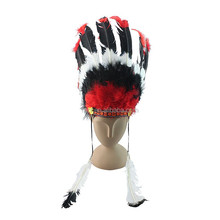 wholesale cheap indian feather headdress FW-0088