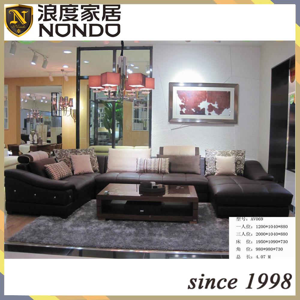lage armleuning sofa woonkamer lederen bank moderne lage arm av070 ...