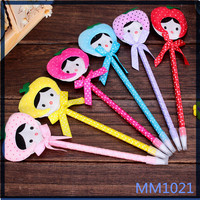 2016 high quality colorful simple style korean stationery advertising gifts for kids and student cute cheap ballpoint pen